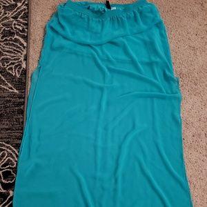 H&M teal maxi skirt, 10.